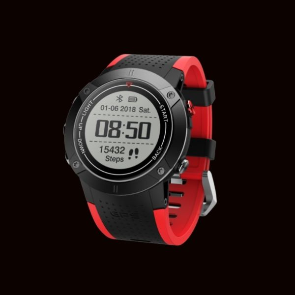 Mens Smart Watch Heart Rate Monitor Pedometer GPS IP68 Waterproof Bluetooth 4.0