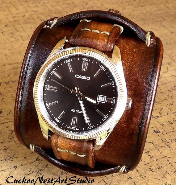 17 best ideas about cuff watches steampunk watch leather cuff watch cuff men s leather watch by cuckoonestartstudio 289 00