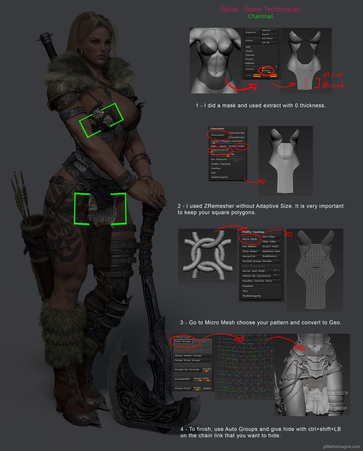 Norse Breakdown - Gilberto Magno chainmail zbrush