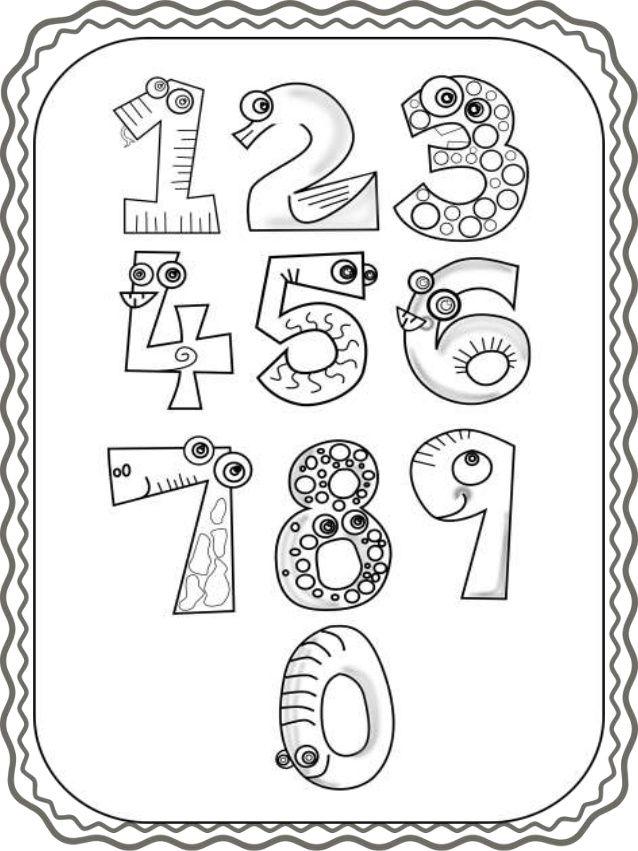 Karteles Ari8mwn 1 10 Kai Fylla Ergasias Zwgrafikhs Http Blogs Sch Zahlen Zum Ausmalen Schreibideen Alphabet