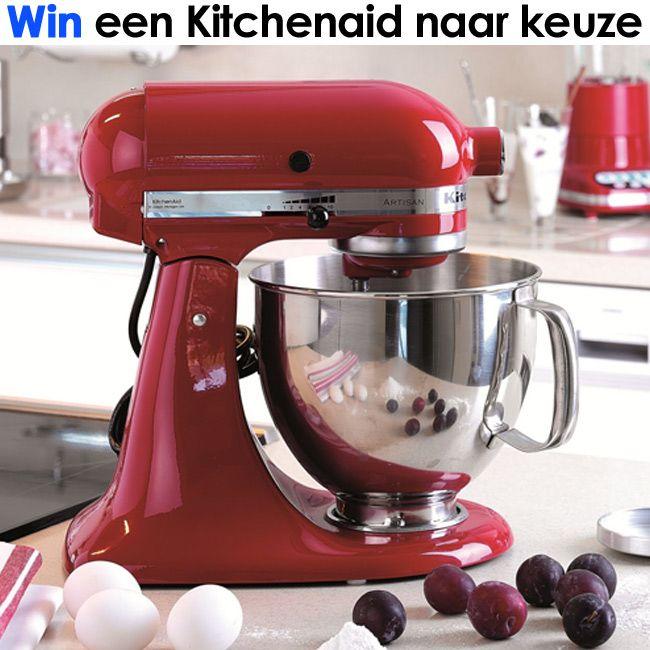 Win een Kitchenaid Mixer of ander apparaat naar keuze! Al sinds het begin van de twintigste eeuw is KitchenAid dé keukenhulp voor iedere kok. Op Wonenonline maak je nu kans op een Kitchenaid apparaat naar keuze waaronder deze Kitchenaid Artisan mixer! Voor welk apparaat zou jij kiezen? Check de actie op http://owl.li/M1eNj