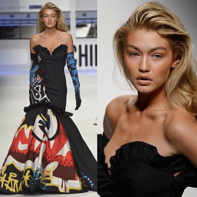 Style Stalking: 10 of Gigi Hadid's Best Fashion Moments: At Moschino