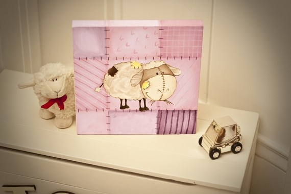 pink sheep - if we have another baby - must do the nursery in quilted pinks and sheep!