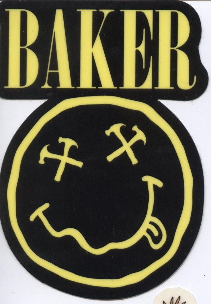 Baker Skateboards Jim Greco Sticker Nirvana.  Click on picture to purchase.