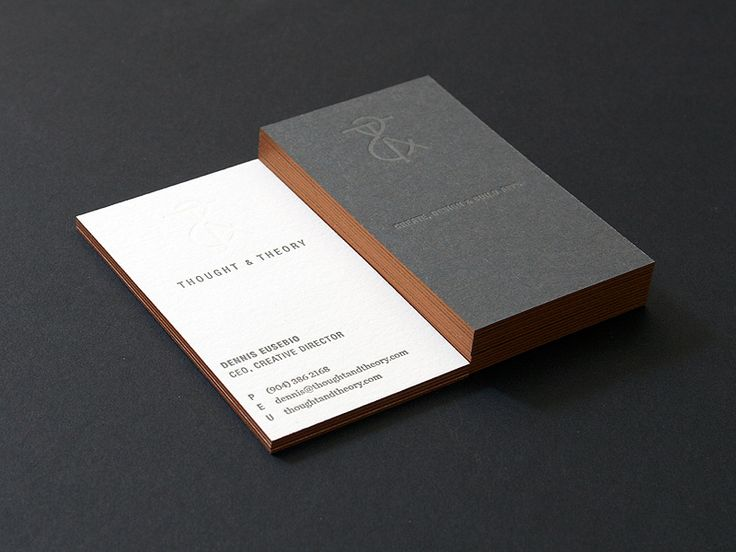 520 best business cards images on pinterest business card design the classic business cards of dennis eusebio ceo of thought theory web developers printed on a duplexed card stock with letterpress front on the logo reheart Choice Image