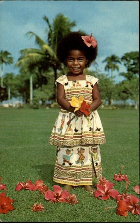 Girl from Fiji in the South Pacific