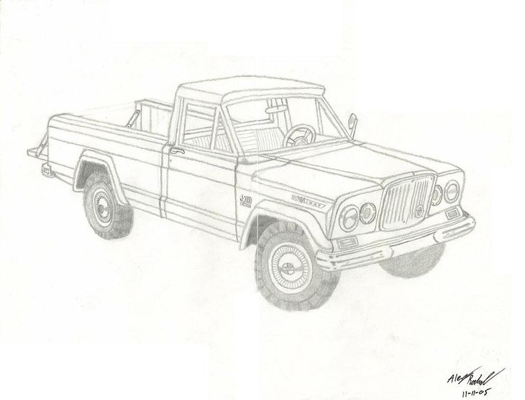 Gladiator Truck For The Jeep Coloring Book Pinterest Page