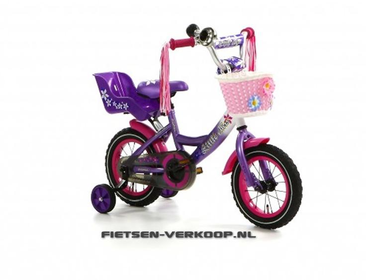 Meisjesfiets Little Miss Paars 12 Inch   bestel gemakkelijk online op Fietsen-verkoop.nl