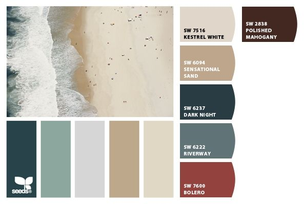 1000 ideas about coastal color palettes on pinterest coastal colors coastal paint colors and - Beach house paint colors interior ...