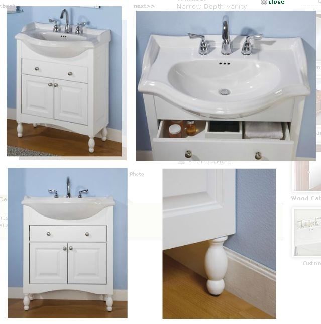 narrow bathroom vanities and sinks sink and vanity empire narrow depth vanity with 23843