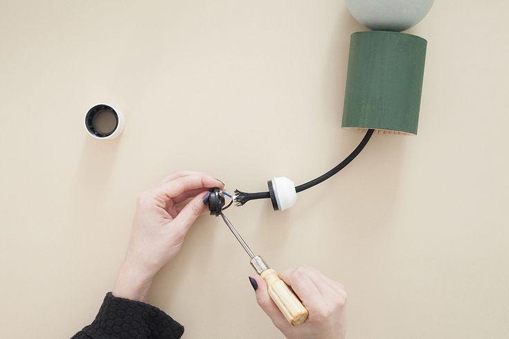 DIY Art Déco pendant light - Heju