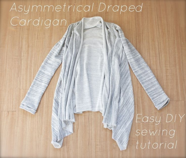 How to make an asymmetrical draped cardigan-- an EASY tutorial// the Pelican House