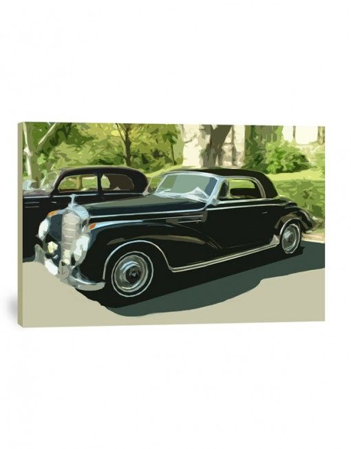 Old Mercedes canvas print
