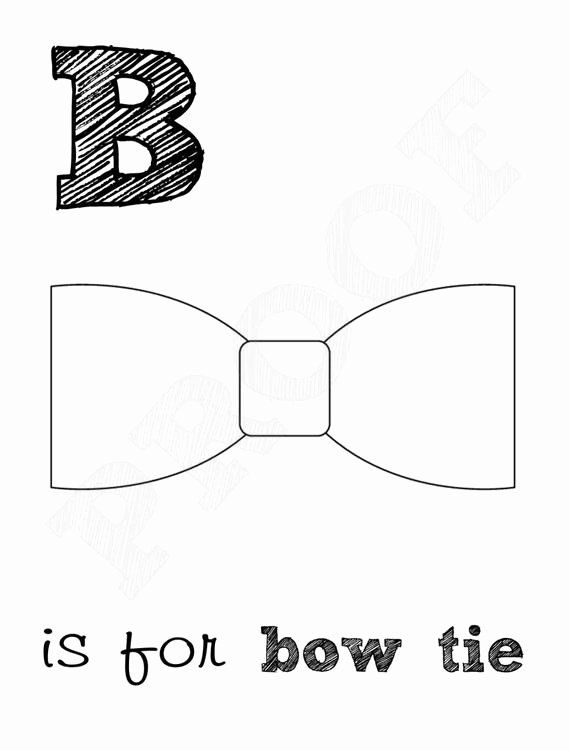 Bow Tie Coloring Page Fresh Bow Tie 8x10 Color Page ...