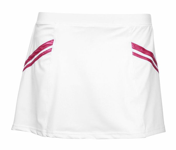 Pure Lime Tennis Women's 6 Gore Tennis Skort - White/Raspberry Sorbet