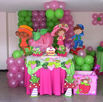 Cool Strawberry Shortcake Decorations Ideas For Birthday PartyGirls
