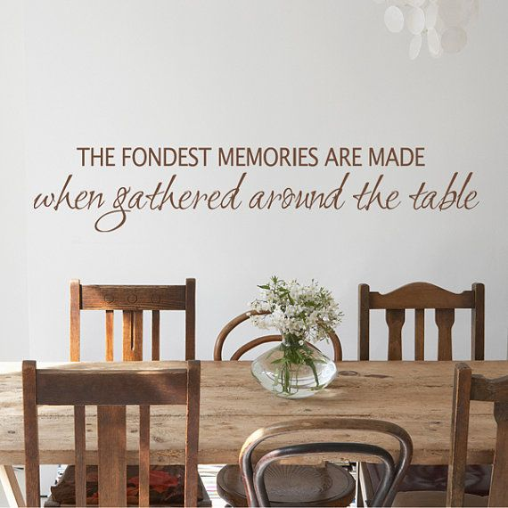 Gathered Around The Table Home Wall Decal By DreamBirdGraphic 1899 Decide On Color After Kitchen Dining Room QuotesKitchen