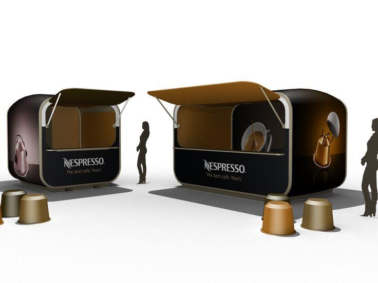 AirClad YumYum pop up kiosks for Nespresso.