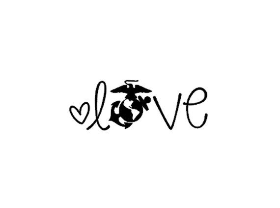 Marine Corp Love Car Phone Laptop Tablet Decal by InspiredByGrayce, $1.50