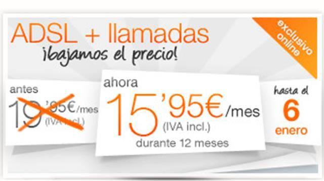http://www.adslbarato.org/mejor-adsl-2015/ En este nuevo año 2015 destaca la oferta superior del adsl de Orange. Es una promoción por un tiempo limitado y aunque incluye un compromiso de permanencia de 12 meses vale la pena aprovecharla. Son solo 15.95 euros al mes, aunque también hay que tener en cuenta el gasto de la cuota de línea de 18.15 euros mensuales. Algunas de las ventajas de esta tarifa son: - Llamadas gratuitas ilimitadas a teléfonos fijos nacionales...
