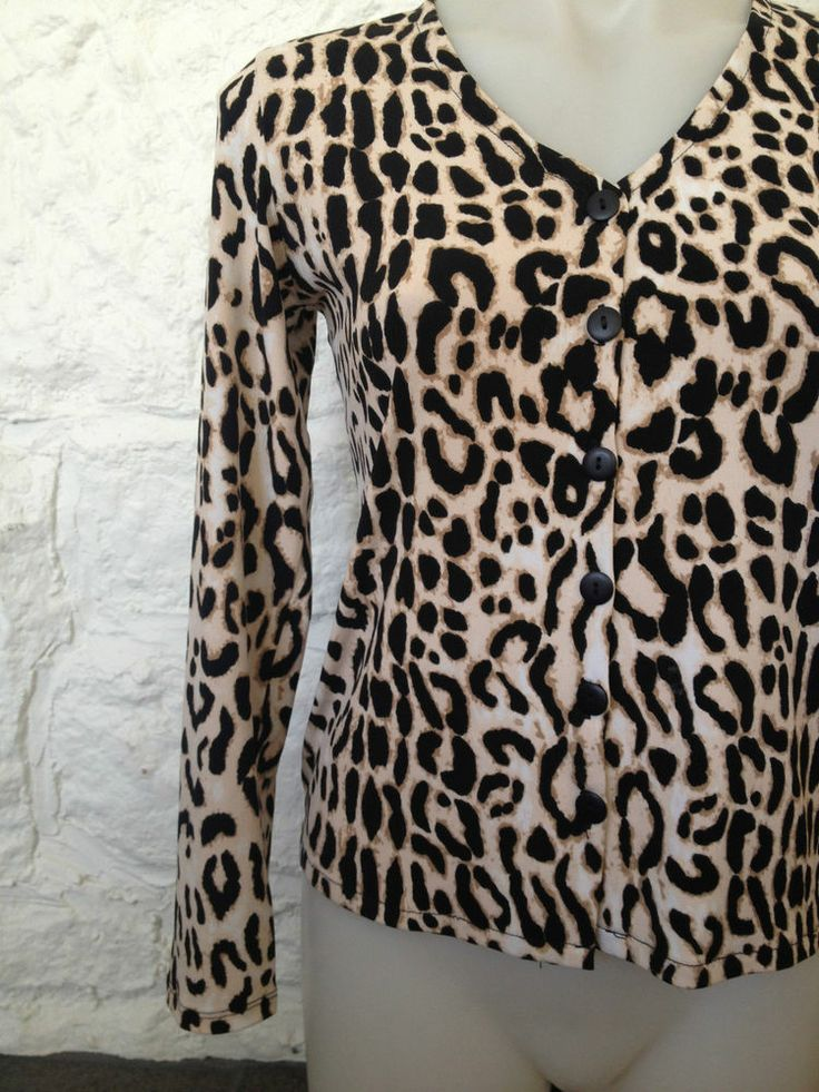 Ladies In Cahoots Boutique Designer Leopard Print Cardigan - Small - Now Selling! Click image to go to eBay auction.