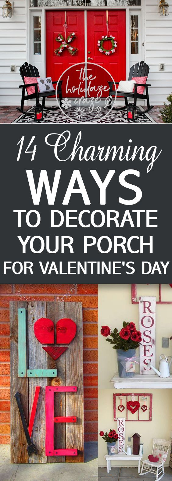 14 Charming Ways to Decorate Your Porch for Valentine's Day| Valentines Day, Valentines Day Porch Decor, Holiday Porch Decor, DIY Holiday Porch Decor, Porch, Porch Stuff, Popular Pin #ValentinesDay #PorchDecor