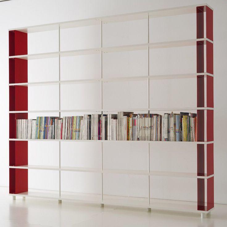 Libreria Componibile SKAFFA Modulare a parete Design mensole scaffali bianchi a giorno da cm. 300 x 251 h x 30: Amazon.it: Casa e cucina