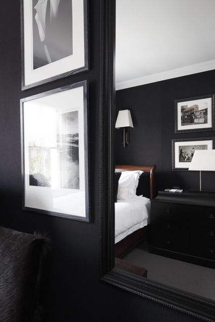 black bedroom designed by stephen ryan photographed by james balston - Bedroom Designed