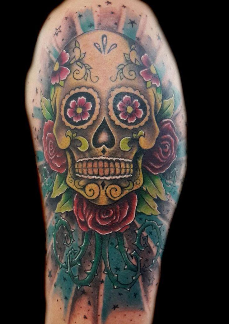 www.valestattoo.com #valestattoo #tattoo #tatuaggio #teschio #skull #skulls #teschiomessicano #mexicanskull #rose #roses #colorart #colortattoo #eternal #eternalink #eternaltattoo #pantheraink #pantherainktattoo #photooftheday #bestoftheday #love #creative #stelle #star #tattooart #tattooartist #tattooartists #tattooartistitaly