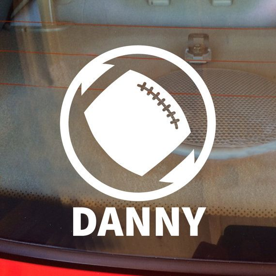 Personalized football decal team name football team decal football sticker football car