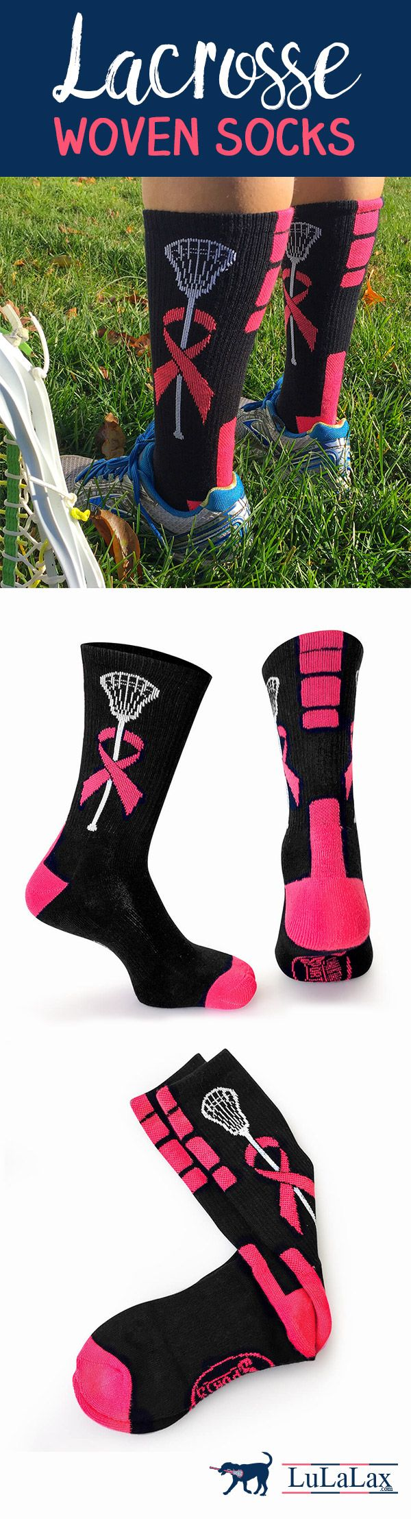 Show off your love of #lacrosse with our stylish woven socks that look and perform great, on and off the field!