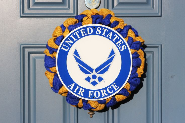 USAF Wreath, Air Force Wreath, USAF Retirement Gift, Promotion Gift, US Military Wreath, Patriotic Support Wreath, Patriotic Holiday Wreath by WreathObsessed on Etsy