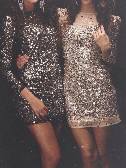 Sparkle Season! Gorgeous Sequinned Dresses In Pewter And Gold