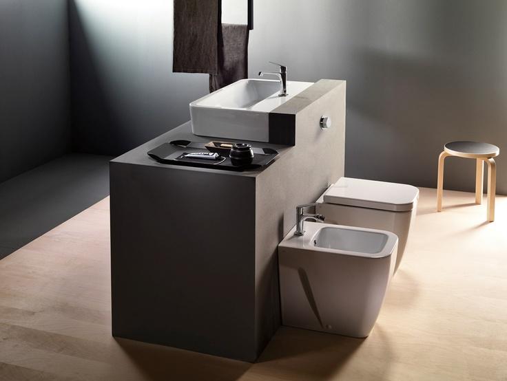 GSI ceramic | Traccia Bathroom  #GSIceramica #BathroomDesign #Washbasins #Sanitaryware