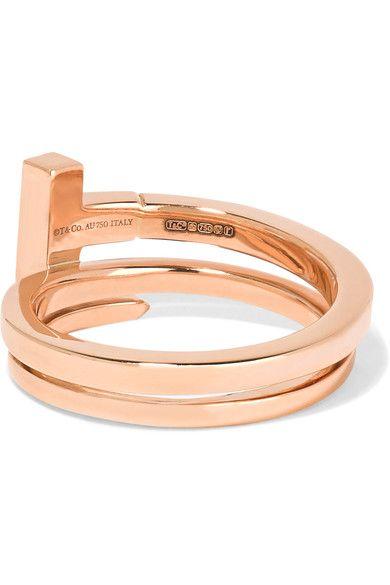 Tiffany & Co. - T Wrap 18-karat Rose Gold Diamond Ring
