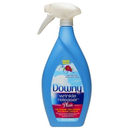 Avoid Ironing with Downy Wrinkle Releaser Plus - It makes ripples disappear in 5-10 minutes.