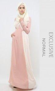 (Regular) Elysian Dress in Dusty Peach and Ivory