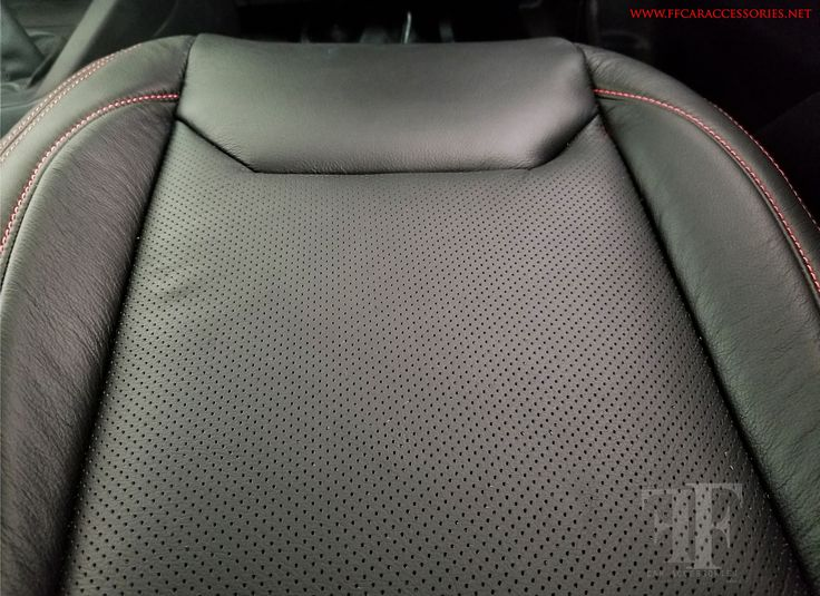 closer look! how the perforation employed in this seats to reduce heat we used fine Italian automotive leather for this project