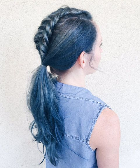 Why the New Denim Hair Color Trend Could Work For You | InStyle