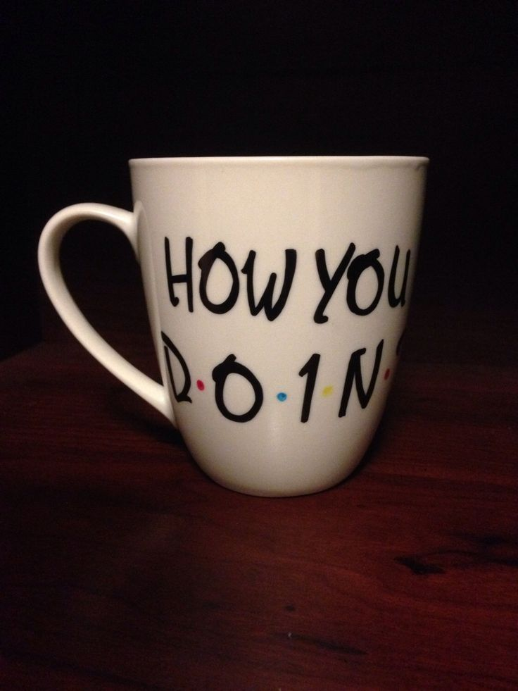 "Joey's ""how you doin?"" Mug from F•R•I•E•N•D•S by TooLegitTooKnit on Etsy https://www.etsy.com/listing/189751866/joeys-how-you-doin-mug-from-friends"