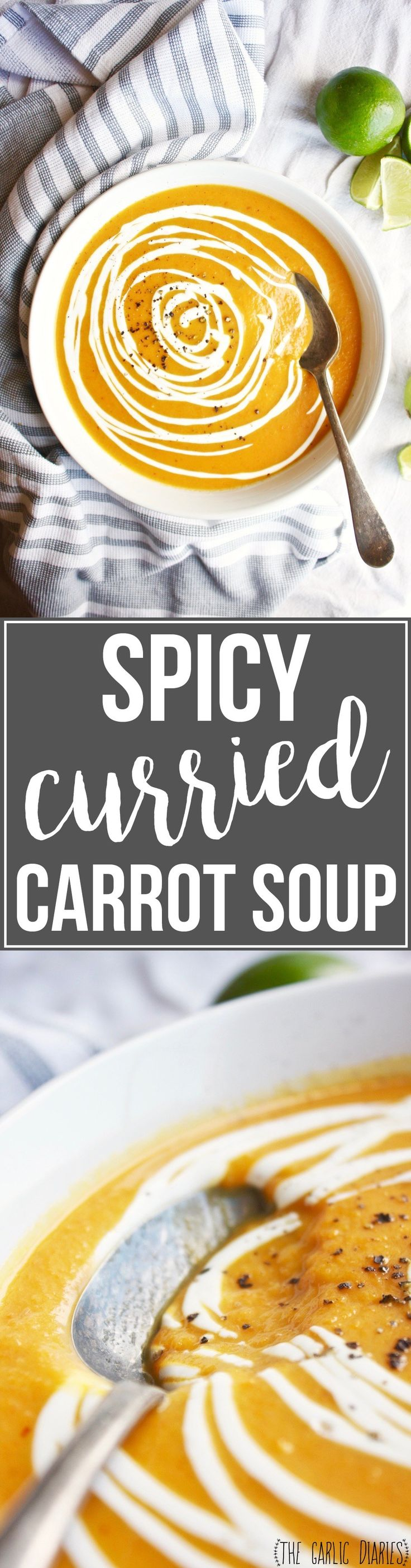 Spicy Curried Carrot Soup - TheGarlicDiaries.com