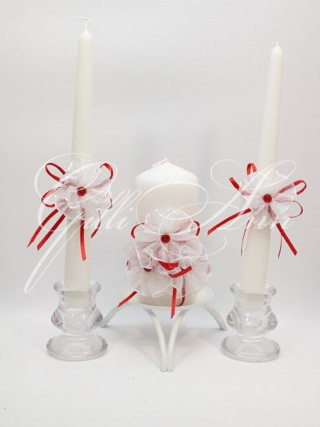 Набор свечей Семейный очаг Gilliann Red Retro CAN084, http://www.wedstyle.su/katalog/ceremony/svadebnye-svechi, wedding candle, wedding accessories