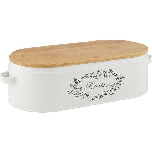 Brotdose aus Metall und Holz – ein romantischer Hingucker für Ihre Küche
