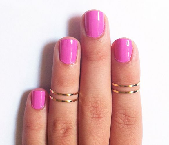 knuckle rings and great nail color