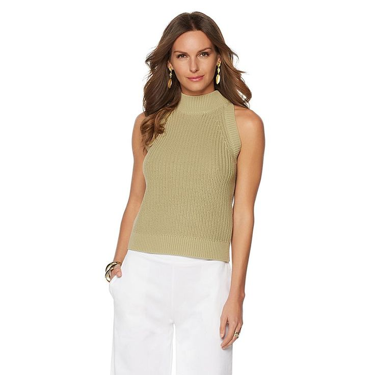 Wendy Williams Mock Neck Sweater - Green