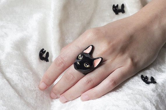 Nil gatto anello di GOODAFTERNINE su Etsy