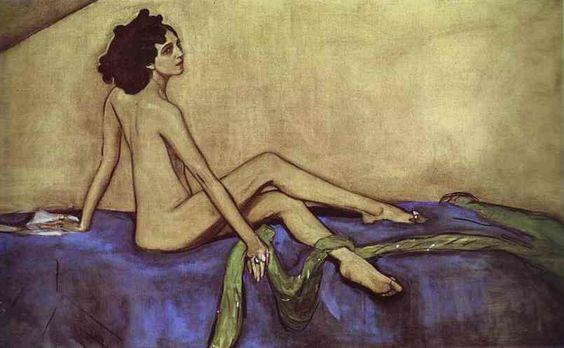 Valentin Serov, Portrait of Ida Rubinstein (1910).: