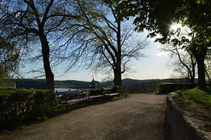 Park in Tihany, Lake Balaton Hungary