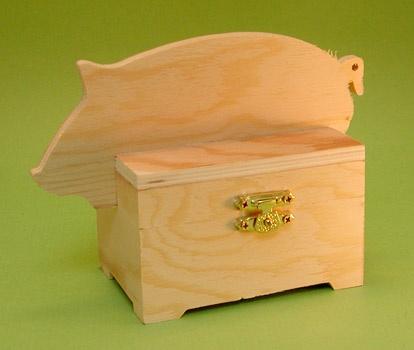 Piggy Wooden Box