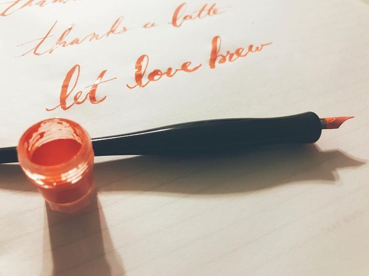 Let love brew. #calligraphy